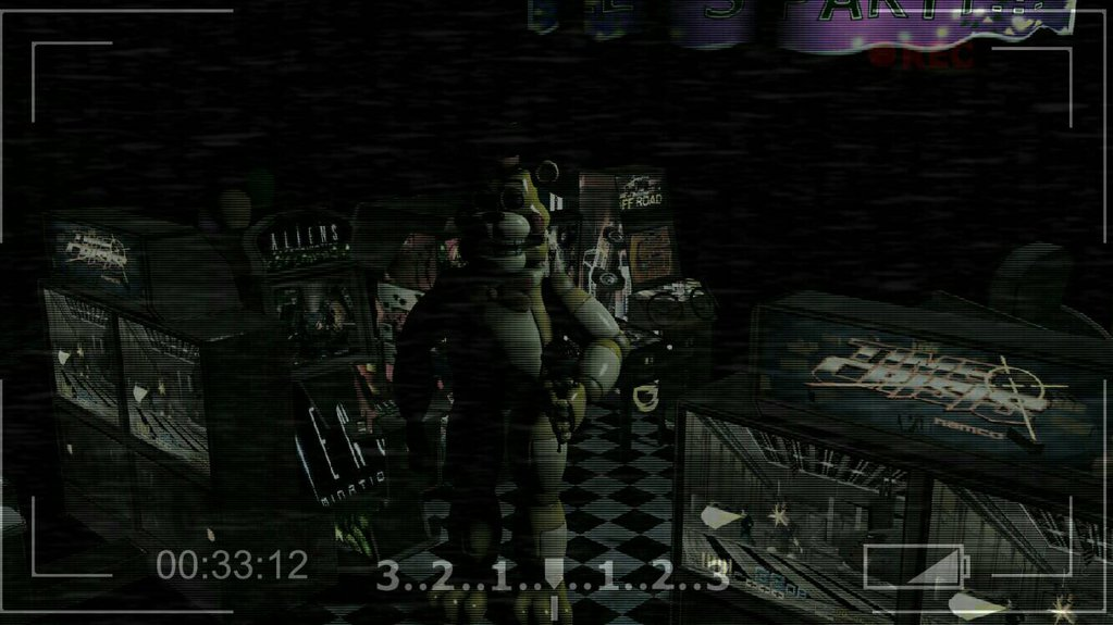 Five nights at Freddy's right before a jumpscare